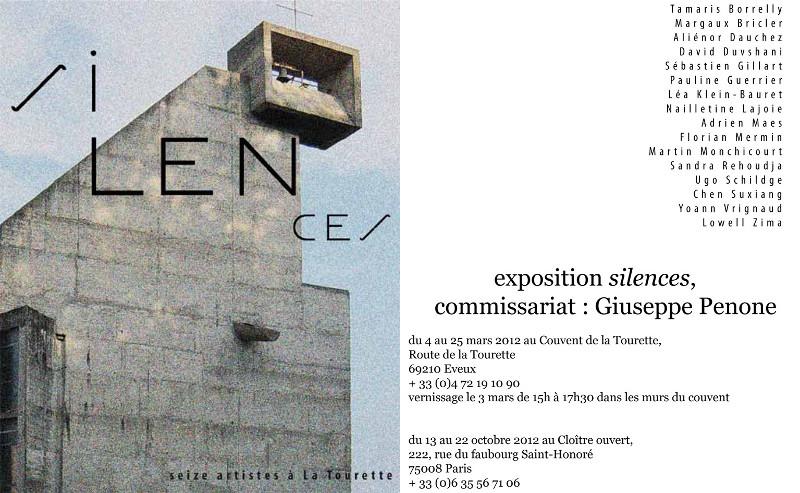 Exposition silences, Couvent de La Tourette